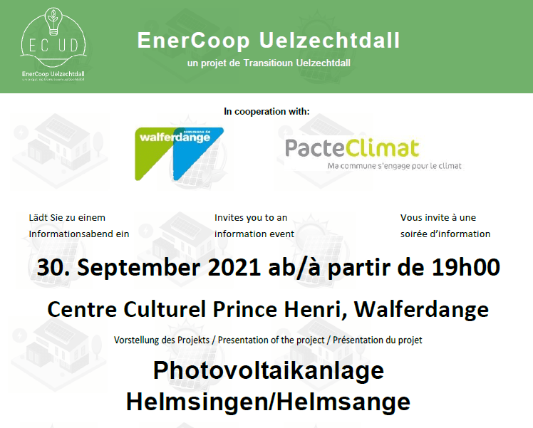 EnerCoop information event – photovoltaic plant in Helmsange